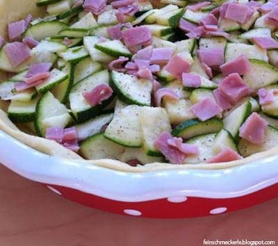 Quiche mit Zucchini, Schinken & Käse