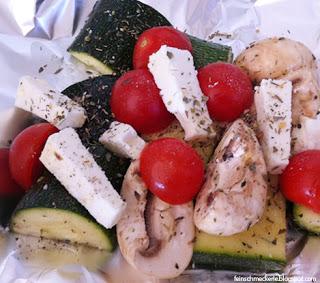 Feta Gemüsepäckchen vom Grill