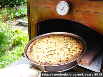 Metzinger Krautkuchen aus dem Holzbackofen