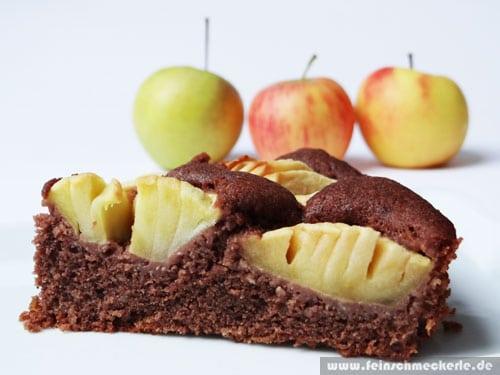 Unschlagbares Trio Apfel Schoko Nuss Kuchen Feinschmeckerle