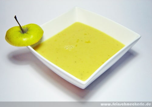 Grüne Apfel Kartoffel Suppe