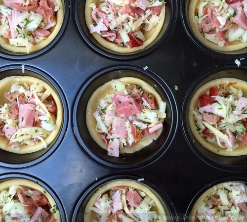 Winter Soulfood für Bushcooks Kitchen: Schinken Käse Mini Tartelettes