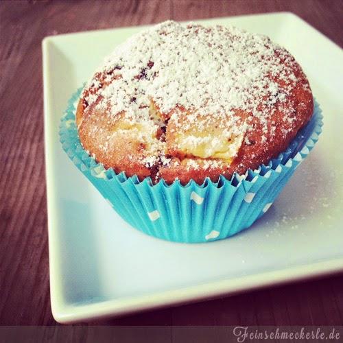 Nektarinen Schoko Muffins mit griechischem Joghurt