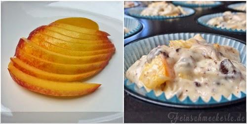 Nektarinen Schoko Muffins mit Joghurt