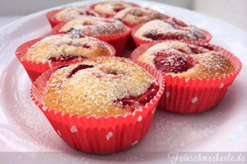 Kleine Erdbeer Küchlein / Muffins