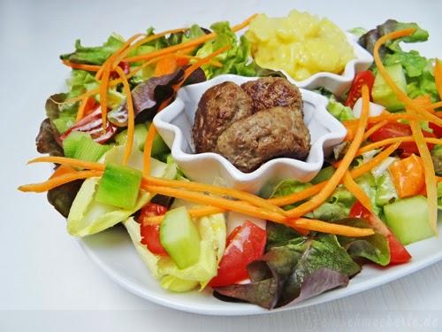 Leicht und lecker: Tatar Bällchen mit buntem Salat
