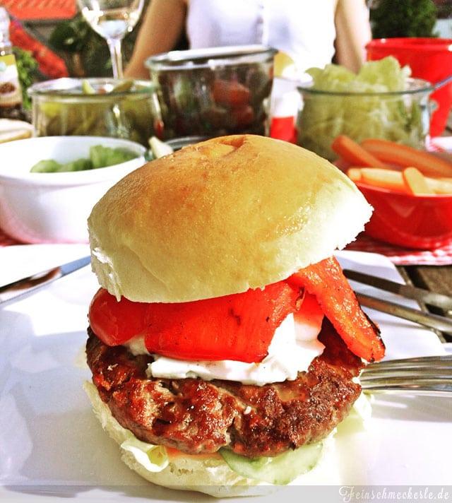 griechische burger mit feta