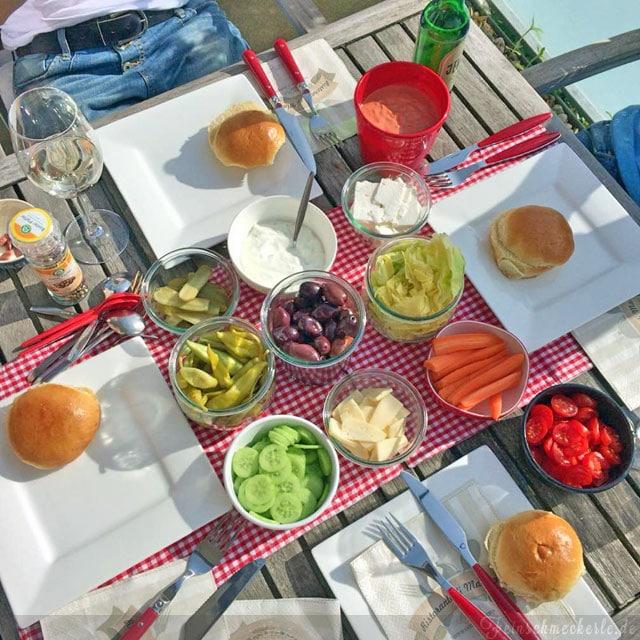 griechischen Burger vom Grill