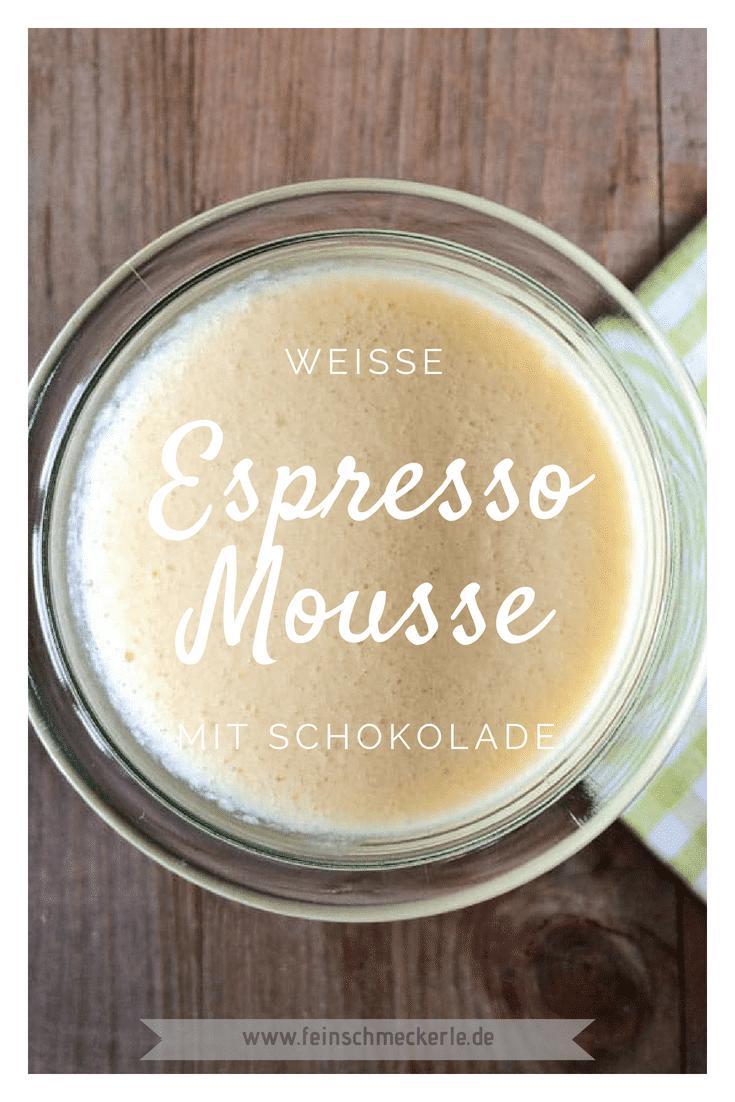 Weiße Espresso Mousse