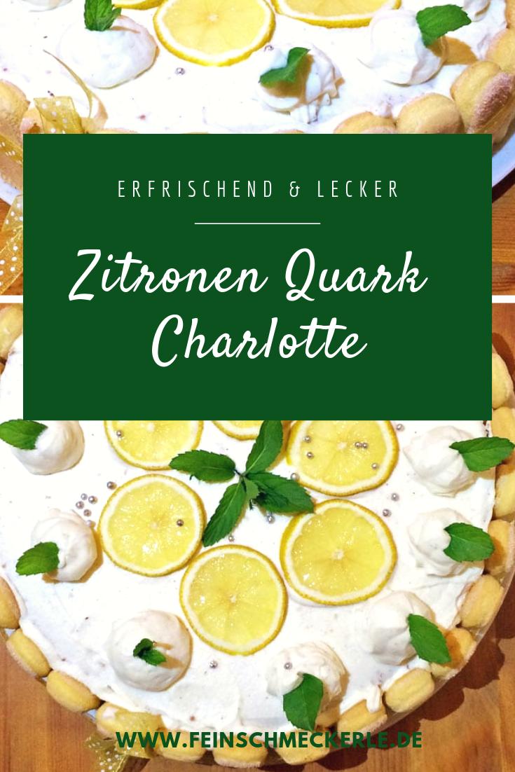 Zitronen quark charlotte