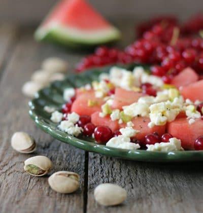 Wassermelonen Feta Salat ist out? So what! Ich liebe meine Spezial-Version!