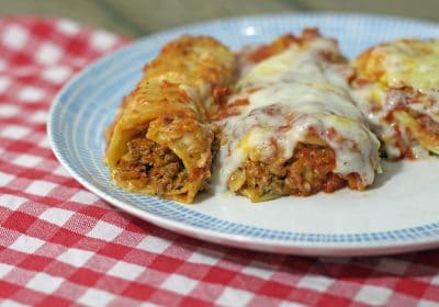 Frau Feinschmeckerle dreht durch: Cannelloni mit Hackfleisch, Gemüse und hausgemachtem Nudelteig
